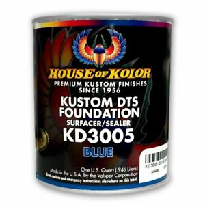 House Of Kolor Kd3005 Kustom Dts Blue Primer Surfacer sealer 1 Quart