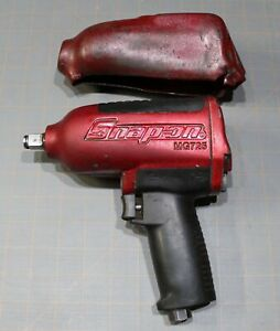 Rare Snap On Tools Red Sparkle Mg725 1 2 Drive Air Impact Gun Pneumatic W boot