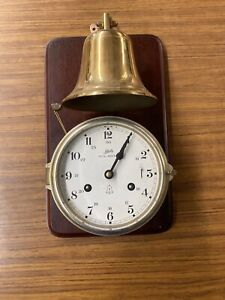 Rare Schatz Royal Mariner Ships Clock And Bell Works