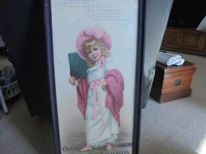 Antique Victorian Advertising White Sewing Machine Poster