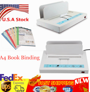 A4 Book Binding Machine Hot Melt Glue Book Paper Binder Puncher Office 110v