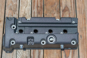 Honda K24 K20 Type R Civic Rsx Valve Cover 10an Bungs Powdercoated Wrinkle Black