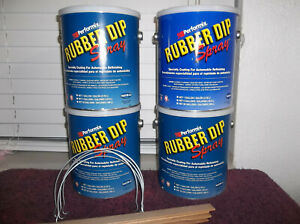 4 Gallons Performix Rubber Dip Spray 3 X Clear 1 X Grey Color Coating Plasti dip