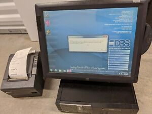 Pos Retail Or Restaurant 15 Elo Touchscreen Set Dell Pc Printer Card Reader