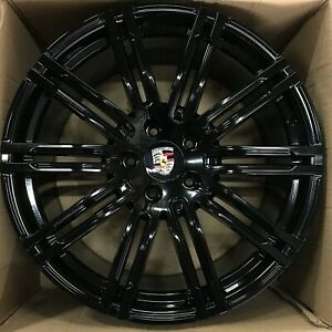 20 Porsche Cayenne S Turbo Gts 2018 20 Hybrid Wheels Rims Glossy Black Set 4