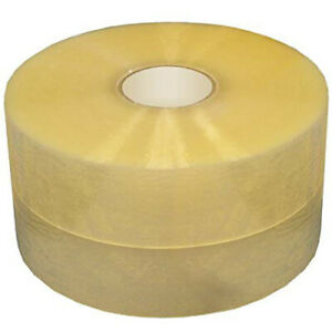 2 Mil 2 X 1000 Yds Clear Machine Roll Packaging Tape 1 Case 6 Rolls cs