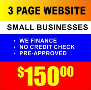 Small Business Website Custom Designed Hosting 3 Pages Mobile Device Friendly