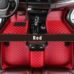 Car Floor Mats Leather For Jeep Grand Cherokee 2011 2018 Full Covered Carpet Red