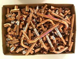 271 Pcs New Copper Tees Unions Elbows Couplings Hammers Reducers