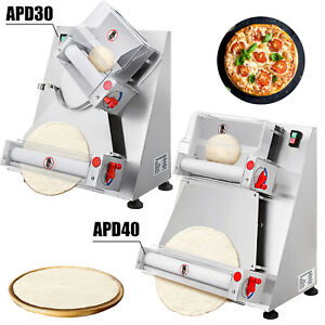 Electric Dough Sheeter Electric Pizza Dough Roller Sheet Stainless Steel 30 40cm