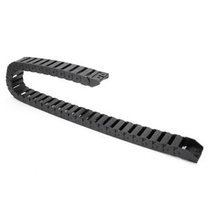 R28 15mm X 30mm Black Plastic Cable Drag Chain Wire Carrier 1m Length For Cnc