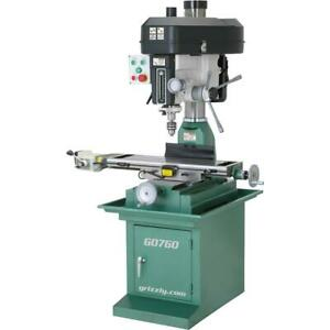 Grizzly G0760 8 X 29 2 Hp Mill drill With Stand And Powerfeed