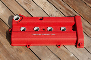 B18b1 B20b 1 8l 2 0l Acura Integra Ls Valve Cover Powder Coated In Wrinkle Red