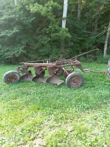 3 Bottom Pull Type Moldboard Plow John Deere Minnie Oliver Farmall Allis