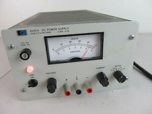 Hp 6291a Variable Dc Power Supply 0 To 40v 5a 200w Tested Working