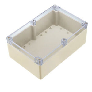 230x150x87mm Electronic Abs Plastic Junction Box Enclosure Case W Clear Cover