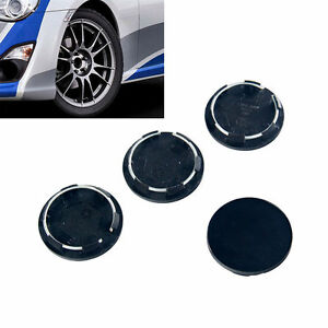 4 X Black Racing Car Wheel Center Hub Caps Covers Set No Logo Universal 50mm