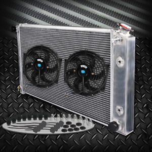 Full Aluminum Radiator For 70 87 Chevy Camaro Nova Chevrolet Buick Regal 2 Fan