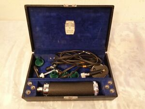 Welch Allyn Otoscope Ophthalmoscope Set Kit With Extras Working