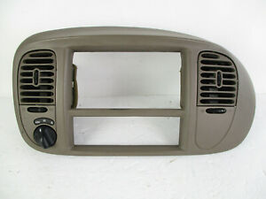 Ford F150 Expedition Center Dash 4x4 Radio Climate Bezel Air Vent Tan 97 03
