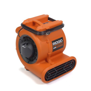 Ridgid Blower Fan Air Mover High Volume Padded Foot Bumpers Powerful 1625 Cfm