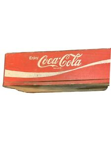 Vintage 1972 Coca-Cola Wooden Crate Red 1972 Chattanooga COKE5