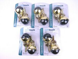 Lot Of 5 Waxman Softtouch Swivel Stem Mounted Hooded Casters 2 Pack