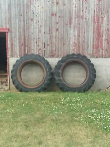 15 5 X 38 Fireston 151 All Traction Field And Road Tractor Pull Tires Dual Rim