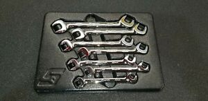 Snap On Tools Vsm807b 7 Piece 4 Position Angle Metric Wrench Set 10 15 17 Mm