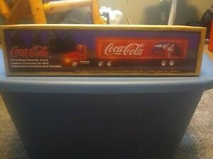 Coca Cola Truck And Trailer Christmas Caravan 1997 new in box never played with