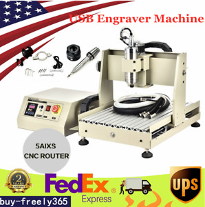 Usb Structure 5 Axis Cnc 3040 Metal Router Engraving Milling Diy Machine 800w