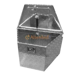 33 Aluminum Under Body Tongue Box Storage For Trailer Atv Truck Silver
