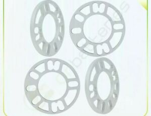 4pcs 10mm Universal Alloy Wheel Spacers Pcd 95 To 121mm Od 148mm Id 77mm Sliver