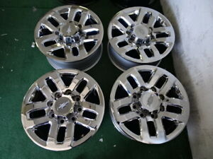 2019 Chevrolet Silverado 2500 3500srw Oem Factory Chrome 18 Wheels Rims