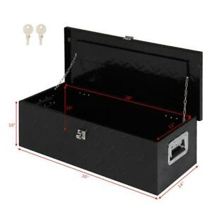 30 Black Aluminum Pickup Truck Trunk Under Bed Tool Box Trailer Storage Lock