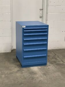 Used Lista 7 Drawer 22 Wide 36 Tall Cabinet Industrial Tool Storage 2202 Vidmar