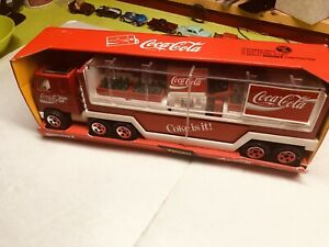 VINTAGE Buddy L Coke Is It Coca-Cola Trailer Truck Toy COMPLETE  in Box