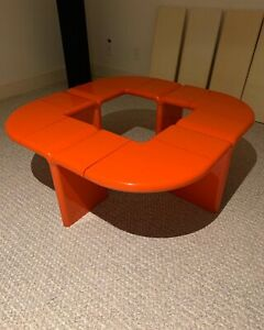 Kay Leroy Ruggles Umbo Coffee Table Rare Space Age Kartell Eames 1970 S Bookcase