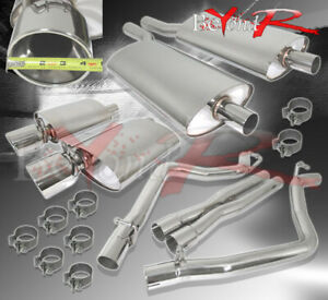 For 2005 2010 Chrysler 300c 5 7l Twin Dual 4 Stainless Steel Exhaust System