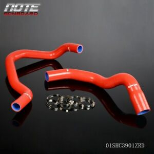 Red Silicone Radiator Hose Clamps For Jeep Cherokee Xj 4 0l 242 Cid L6 1984 2005