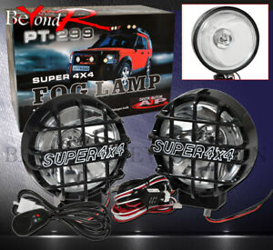 Built In Hid 4x4 Round Off Road Lamps Chrome Fog Lights With Black Trim Cover