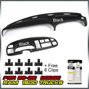 Fit For 98 02 Dodge Ram 1500 2500 3500 Dash Cover Instrument Panel Cover Combo