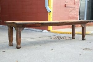 Antique Harvest Table 10ft Dining Room Drafting Office Bankers Desk Library Old