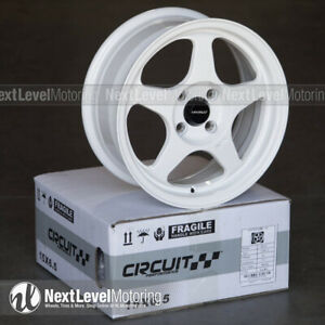 Circuit Performance Cp22 15x6 5 4 100 35 Gloss White Wheels Rims Spoon Style