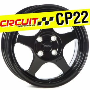 1 Circuit Performance Cp22 15x6 5 4 100 35 Gloss Black Wheels Rim Spoon Style