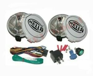 Hella Comet 500ff Kit Spot Driving Lamp Light With Cover 2 For Jeeps Truck ca