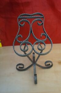 Pmp 909c Small Rustic Raw Steel Metal Sculpted Shoe Display Stand