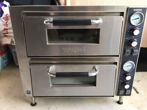 Waring Commercial Wpo750 Double Deck Pizza Oven With Dual Door