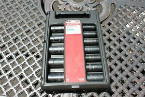 Craftsman 9 15886 12 Pc 6 Point 1 2 Inch Impact Air Socket Drive Set W Case