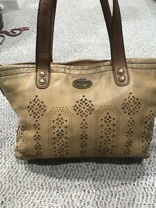 FOSSIL Vintage Supple Brown Leather  Hobo Shoulder Bag 💼 $6.55